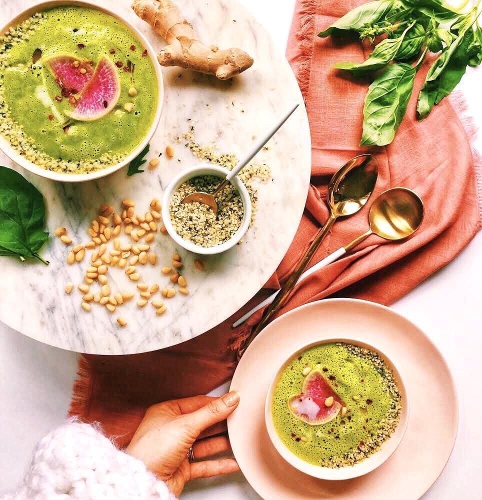 Basil Zucchini Blender Soup