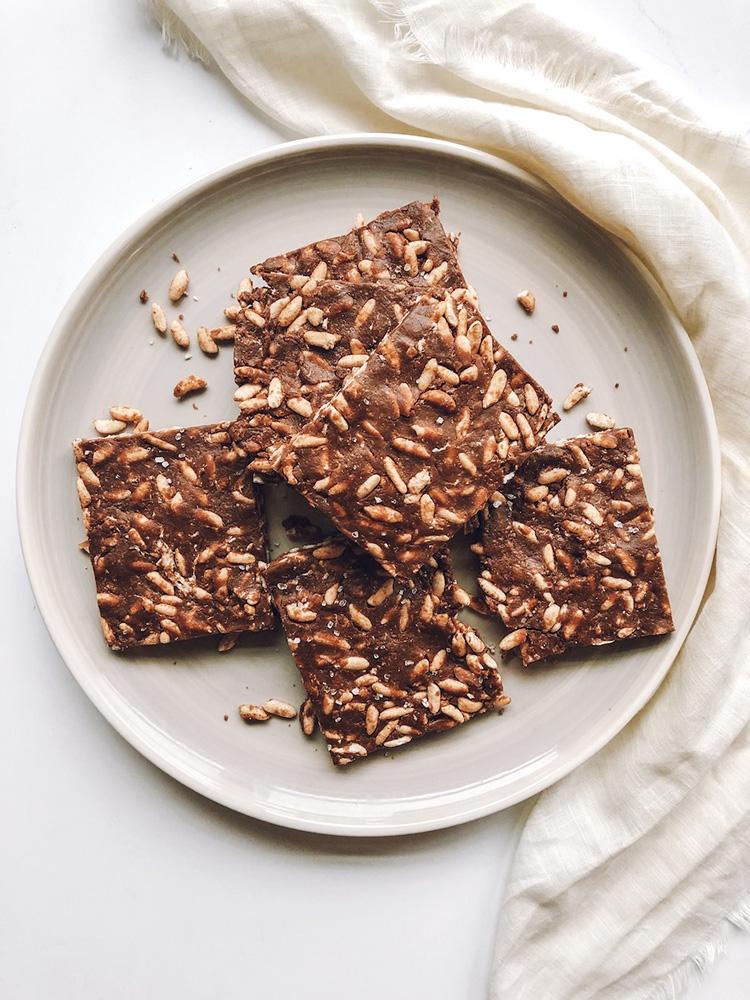 Chocolate Peanut Butter Rice Crispy Treats
