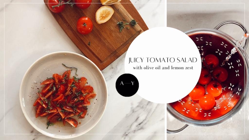 Juicy Tomato Salad Alexandria Yamazaki Recipe YT